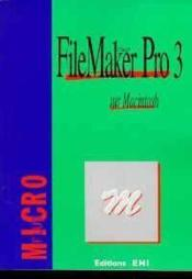 Vente livre :  Filemaker pro 3 sur Macintosh  - Collectif