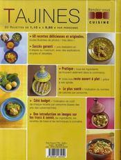 Tajines - 4ème de couverture - Format classique