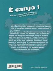 E Canja Mille Et Une Expressions Et Facons De Dire Pour Apprendre Le Portugais - 4ème de couverture - Format classique