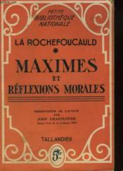Maximes Et Reflexions Morales - Couverture - Format classique