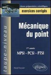 Mecanique Du Point ; Ptsi - Intérieur - Format classique
