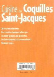 Cuisine des coquilles saint-jacques - 4ème de couverture - Format classique