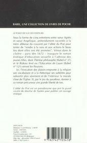 Venus Dans Le Cloitre - 4ème de couverture - Format classique