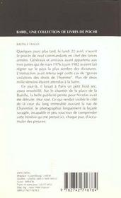 Bastille tango - 4ème de couverture - Format classique
