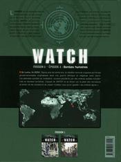 Watch t.1 ; mission 1, épisode 1 ; bombes humaines - 4ème de couverture - Format classique