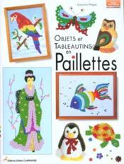 Objets et tableautins en paillettes - Couverture - Format classique