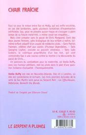 Chair Fraiche - 4ème de couverture - Format classique