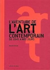 L'aventure de l'art contemporain de 1945 à nos jours - Couverture - Format classique