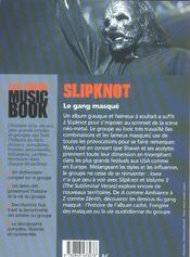 Slipknot de a a z - 4ème de couverture - Format classique