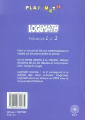 Logimath 1 + 2 - 4ème de couverture - Format classique