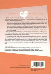 Guide De La Rencontre Amoureuse - 4ème de couverture - Format classique