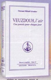 Oeuvres Completes T.21 ; Veuzdouh, L'Air - Intérieur - Format classique
