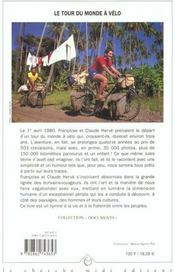 Le tour du monde à vélo - 4ème de couverture - Format classique
