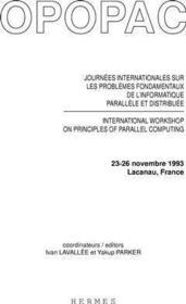 Opopac actes des journees internationales sur les problemes fondamentaux de l'informatique parallele - Couverture - Format classique