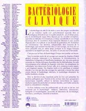 Precis de bacteriologie clinique - 4ème de couverture - Format classique