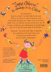 Super Craneur Le Nouveau De La Classe - 4ème de couverture - Format classique