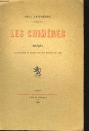 LES CHIMERES - elégie - Couverture - Format classique