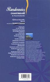 Randonnees En Chartreuse - 4ème de couverture - Format classique