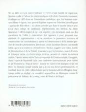 Nicolas De Cues Philo - Couverture - Format classique