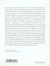 Nicolas De Cues Philo - 4ème de couverture - Format classique