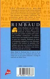 Arthur rimbaud - 4ème de couverture - Format classique