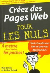 Creez Des Pages Web Pour Les Nuls ; 2e Edition - Intérieur - Format classique