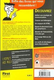 Creez Des Pages Web Pour Les Nuls ; 2e Edition - 4ème de couverture - Format classique