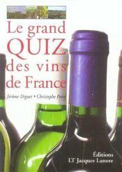 Le grand quiz des vins de france - Intérieur - Format classique