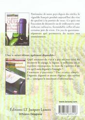 Le grand quiz des vins de france - 4ème de couverture - Format classique