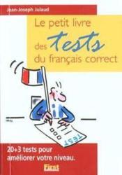 Le petit livre des tests du francais correct - Couverture - Format classique
