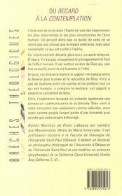 Du Regard A La Contemplation - 4ème de couverture - Format classique