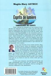 Esprits de lumiere - 4ème de couverture - Format classique