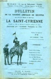 Bulletin De La Societe Amicale De Secours Des Anciens Eleves De Saint Cyr N°36 - Couverture - Format classique