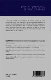 Droit international et conflits armés - 4ème de couverture - Format classique
