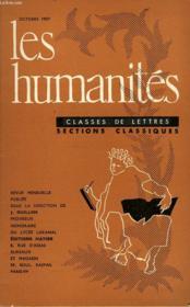 Les Humanites - Classe De Lettres - Octobre 1959 - Couverture - Format classique