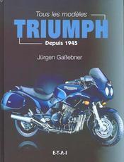 Triumph ; tous les modeles depuis 1945 - Intérieur - Format classique