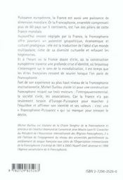 Francophonie Puissance L'Equilibre Multipolaire - 4ème de couverture - Format classique