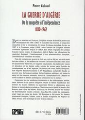 La guerre d'Algérie, de la conquête à l'indépendance, 1830-1962 - 4ème de couverture - Format classique