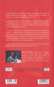 Réflexions sur la philosophie du droit - 4ème de couverture - Format classique