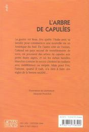 L'arbre de capulies - 4ème de couverture - Format classique