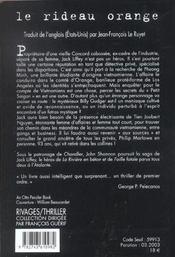 Le Rideau Orange - 4ème de couverture - Format classique