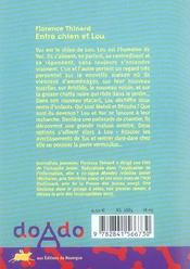 Entre Chien Et Lou - 4ème de couverture - Format classique