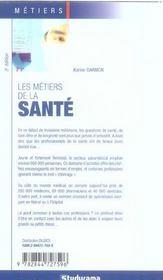Les metiers de la sante - 4ème de couverture - Format classique