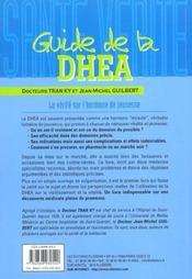 Guide De La Dhea - La Verite Sur L'Hormone De Jeunesse - 4ème de couverture - Format classique