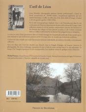 L'oeil de Léon ; la vie au village - 4ème de couverture - Format classique