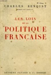 Les Lois De La Politique Francaise. - Couverture - Format classique