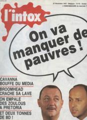 L'Intox N°1 - On Va Manquer De Pauvres ! - Couverture - Format classique