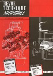 Revue Technique Automobile - N°237 - Couverture - Format classique