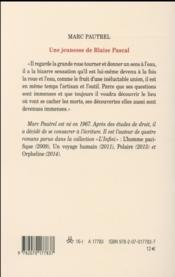 Une jeunesse de Blaise Pascal - 4ème de couverture - Format classique