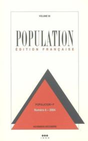 Vente livre :  Population n 6 volume 59 nov-dec 2004  - Xxx
